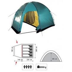 Кемпинговая 4-х местная палатка TRAMP Bell 4