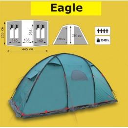 Кемпинговая двух-комнатная 4-х местная палатка TRAMP Eagle