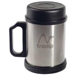 Кружка с крышкой и подставкой 400 мл TRAMP, TRC-007