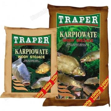 Прикормка TRAPER БАЗОВАЯ 2,5/5 kг (wody bieżące) река;(коричневый)