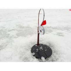 Жерлица зимняя Щука на стойке оснащенная 190 мм (катушка 85 мм)
